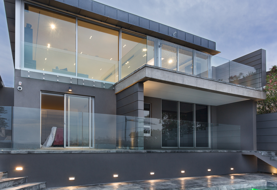 CPT Interiors & Construction - Rose Bay renovation - glass windows maximising harbour views