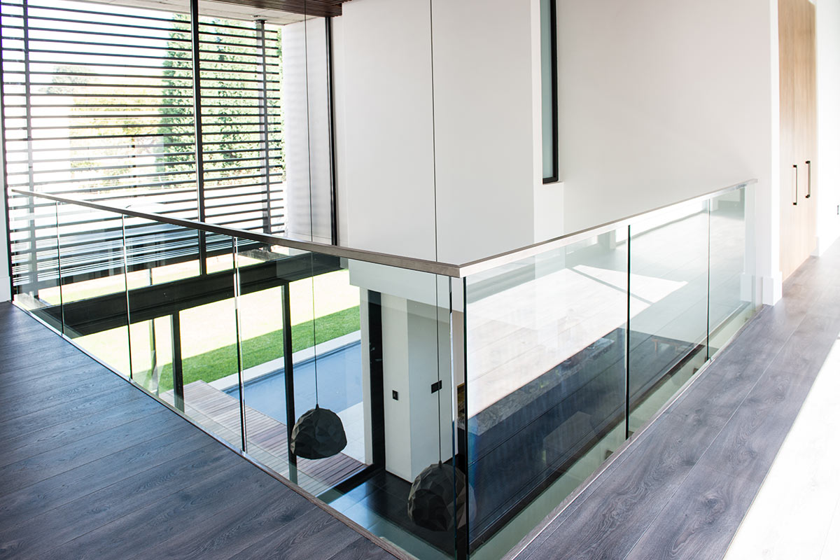 glass balustrades custom built homes