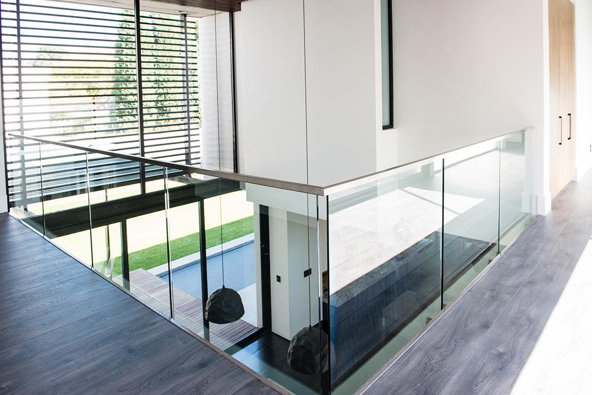 glass balustrades custom built homes